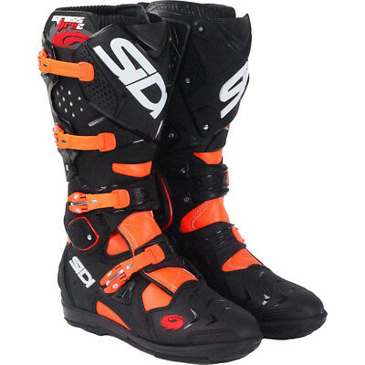 Sidi 2017 NEW Mx Crossfire 2 SRS Black KTM FLO Orange Motocross Boots