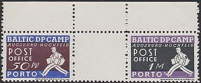 Wwii Estonia Germany Augsburg Camp Dp Displaced Persons Pow Postman Porto Due !