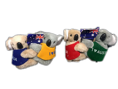 Bulk 36 Australian Souvenir Koala With Australian Flag Clip On  6.5 cm New