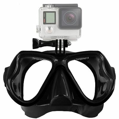 RV77 Tempered Glass Dive Mask Scuba Diving For GoPro Hero 4/3 GoPro Camera
