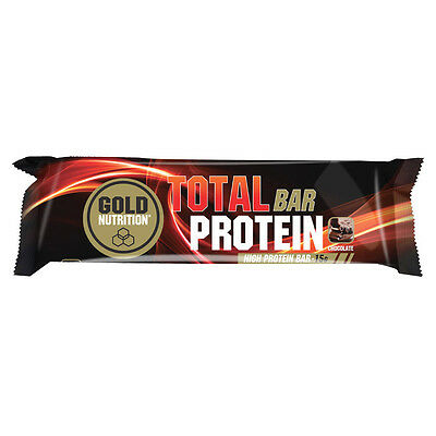 Barrita Proteína - Total Protein Bar 46 Gr (24 Uds). Chocolate - Gold Nutrition