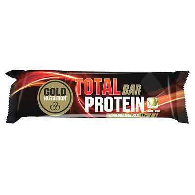 BARRITAS PROTEINA TOTAL PROTEIN BAR 46grX24 UDS  YOGURT/MANZANA - GOLDNUTRITION