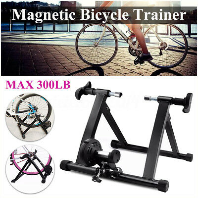 Bike Bicycle Foldable Exercise Magnet Turbo Solid Cycling Trainer Stand Fitness