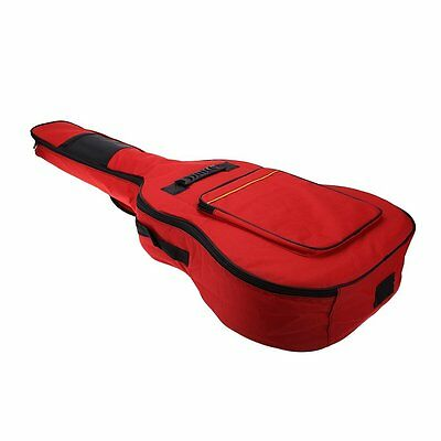 "BT 5mm Cotton Padded Gig Bag Case 41"" Guitar Backpack shoulder Straps Pockets"