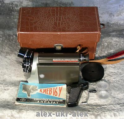 Rare Jubilee Kiev-16U  Kiev 16U 16-mm movie camera with 3 lens.Excellent