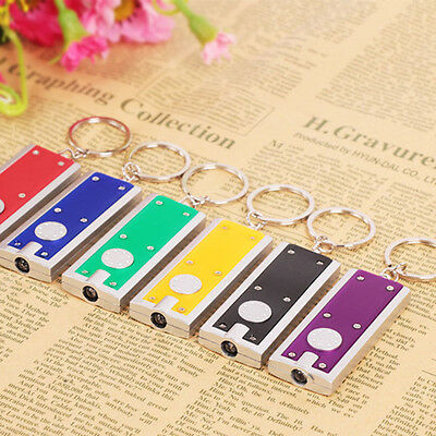 Random Color New Mini Cute Keyring Flashlight LED Torch Lamp Light Keychain