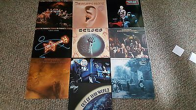 Lot of 10 Nice Prog/Psych Rock Vinyl LP's - Moody Blues, Manfred Mann, Kansas