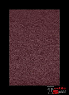 """Vinyl Fabric Burgundy Wine Faux Leather Auto Upholstery 54"""" Pleather By The Yard"""