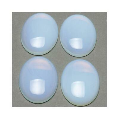 1 x Clear Opalite 18 x 25mm Oval-Shaped Flat-Backed Cabochon CA16644-6