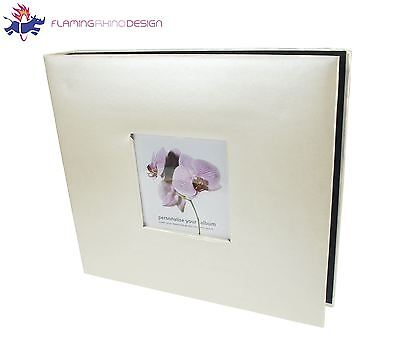 "JSP 200 Photos Slip In Photo Album 6""x4"" in Ivory Fimish w/ Cover Photo Insert"