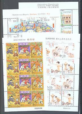 Macao 1997-9 Four complete sheets of 12 or 16 MNH