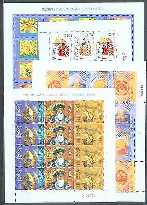 Macao 1998 Four complete sheets of 12 or 16 MNH
