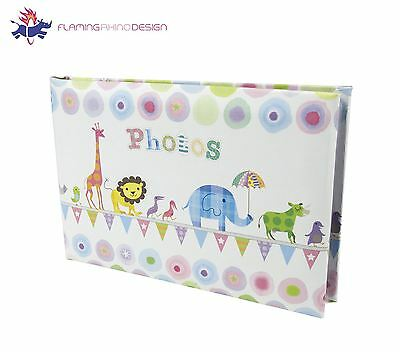 "JSP Small 20 Photos Slip In Photo Album 6""x4"" with Animals Design"