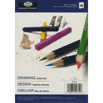 "Essentials Drawing Artist Paper Pad 5""X7"" 40 Sheets RD363"