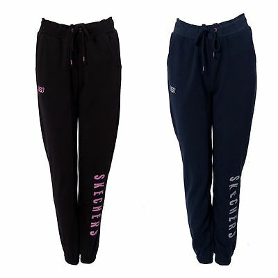 Skechers Womens Long Jogger Ladies Drawstring Tracksuit Bottoms Size 8-16