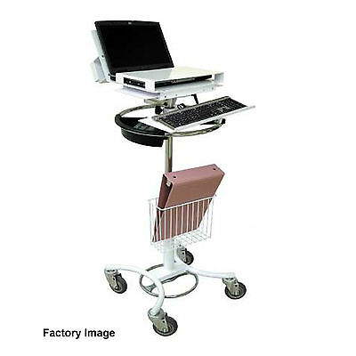 Medical Grade Rolling Mobile Laptop Computer Workstation Stand Cart