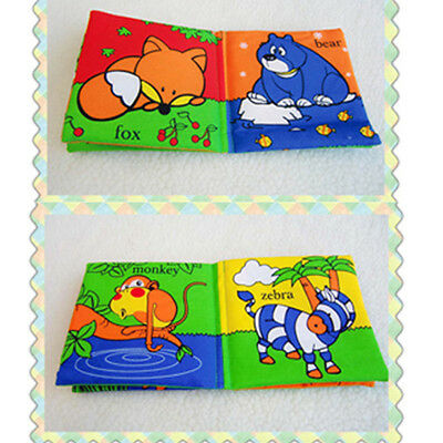 Soft fabric Baby Children Intelligence Cloth Book - Animal Kingdom