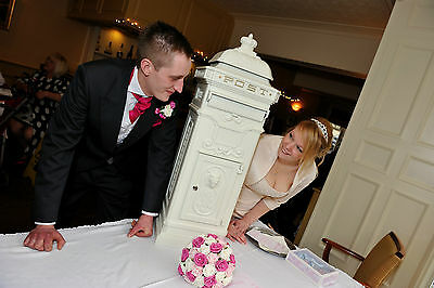 """""""Letters of Love"""" Wedding Traditional Pillar Box Post Box In White"""