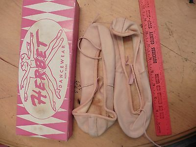 Vintage Herbet Dancewear New York Ballet Shoes Slippers Pink Size 5