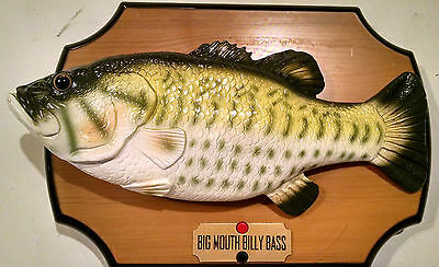 Big mouth billy bass wall plaque singing animated fish for Big mouth billy bass singing fish