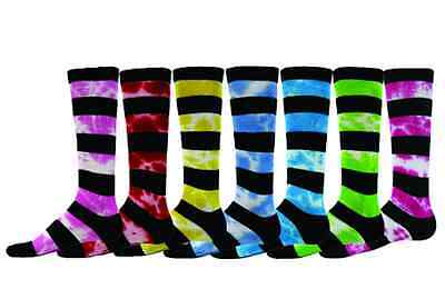 Softball Baseball Soccer Youth Socks Knee Length Tie Dye Stripe Red Lion Rugger