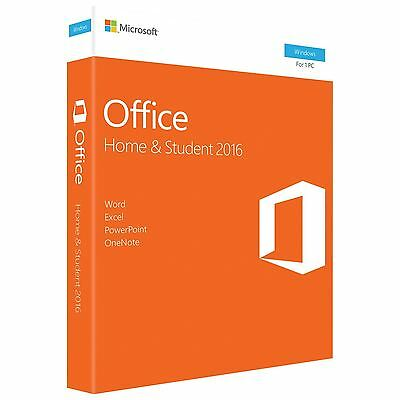 *NEW & SEALED* Microsoft Office Home and Student 2016 OFFICIAL GENUINE 1 User PC