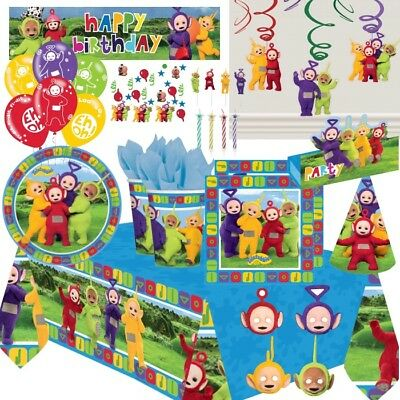Teletubbies 8-48 Guest Starter Party Pack Cups, Plates, Napkins Tablecover