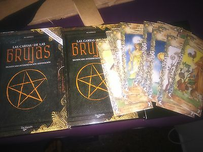 Cartas del tarot_de las Brujas_ 52 cartas XXL + Libro_New Sealed