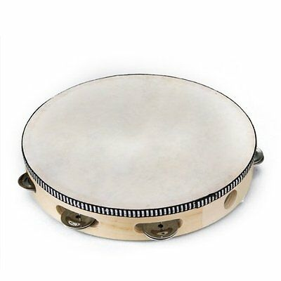 "BT 10"" Musil Tambourine Drum Round Percussion Gift for KTV Party"
