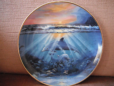 Franklin Mint Dance of the Dolphin Display Plate