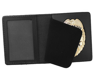 Duty Leather Book Style ID & Badge Case