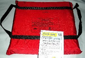 "Revere Type IV Boat Cushion  15"" X 15"" Red 6690"