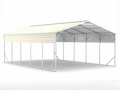 New Carport 6.2m x 9.4m x 3.6m Widespan Cream ships to NZ only