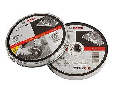 New Bosch Metal Cut-off Disc Inox 125 x 22.2 x 1 mm 10 Pack ships to NZ only