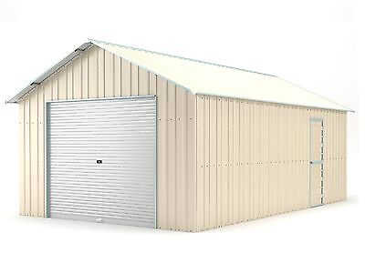 New Single Garage 4.4m x 7.2m Widespan Cream ships to NZ only