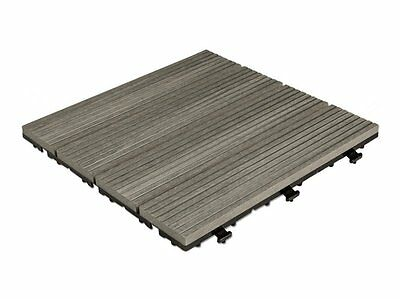 New Outdoor Premium Composite Deck Tiles Grey - Pack of 10 ships to NZ only
