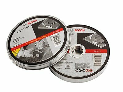 New Bosch Metal Cut-off Disc Inox 105 x 16 x 1mm 10 Pack ships to NZ only