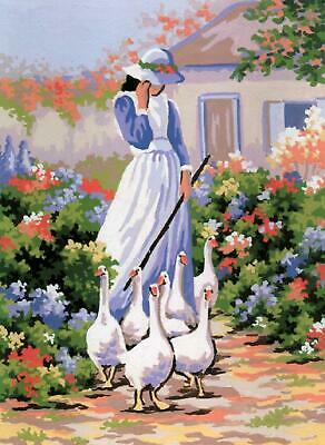 Grafitec Printed Tapestry/Needlepoint Kit – Goose Girl