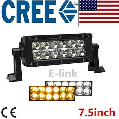 7inch Pods Amber Strobo flash LED Work Light Bar OffRoad Boat Truck 4X4 UTE Jeep