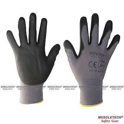 MUSCLETECH PU Safety Work Gloves Mechanic Gloves General Purpose Gloves 12 Pairs