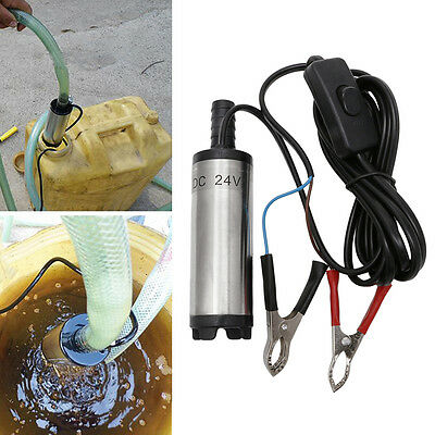 DC24V Stainless Steel Submersible Diesel Fuel Water Oil Pump 12L Per Minute 38mm