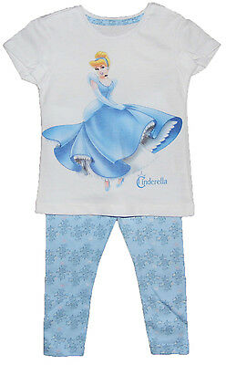 Girls Cinderella Pyjamas Sleepwear T- Shirt and Leggings Style 18-24M to 5-6Y
