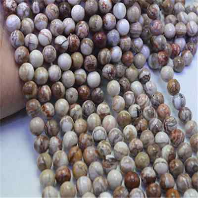 8mm Natural Mexican crazy lace Agate Round Loose Beads 15.5 Inch (About 45pcs)