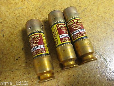 Low Peak LPN-RK-10SP Dual Element Time Delay Fuse 250VAC 125VDC New (Lot of 3)