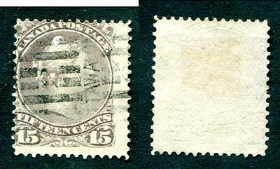 Used Canada 15 Cent Queen Victoria Large Queen Stamp #29/30 (Lot #11130)