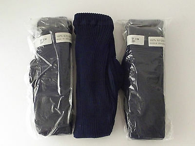 Girls thick ribbed tights - Navy Blue - 1-2 Years (GT-1)