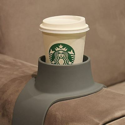 Couch Coaster Grey Sofa Arm Drink Holder Silicone Cup Mug Bottle Glass Holder