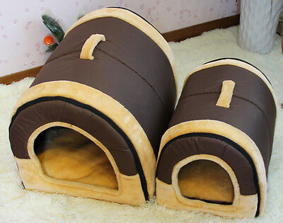 2016 Winter Adorable Puppy Indoor Kennel Dog Cat Cushion Bed House Solid Coffee
