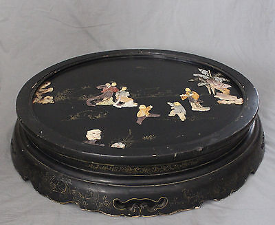 19th Century Large Chinese Hardwood Lacquer Spring Folding Low Table