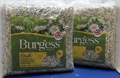 Timothy Hay Chamomile Herbage Small Pet Rabbit Guinea Pigs Chinchillas 500G X 2